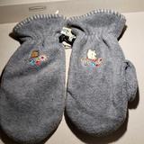 Disney Accessories | Disney Pooh Fleece Mittens | Color: Gray | Size: Osbb