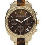 Michael Kors Accessories   Michael Kors Glitz Chrono Tortoise Resin Watch   Color: Brown   Size: Os