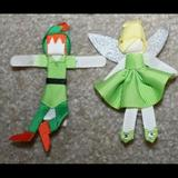 Disney Accessories   Disney! Peter Pan And Tinker Bell Hair Clip   Color: Green/Yellow   Size: Various