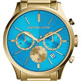 Michael Kors Accessories | Michael Kors Bailey Watch Chronograph 44mm Watch | Color: Blue/Gold | Size: Os