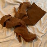 Michael Kors Shoes   Michael Kors Suede Knee High Boots.   Color: Brown/Tan   Size: 5.5