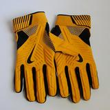 Nike Accessories | Nike D Tack Nfl Pe Padded Lineman Gloves Nwot | Color: Black/Yellow | Size: 4xl