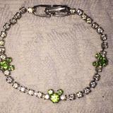 Disney Accessories | Disney Diamond Peridot Costume Tennis Bracelet | Color: Green/White | Size: Osg