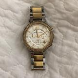 Michael Kors Accessories   Michael Kors Parker Two-Tone Watch   Color: Gold/Silver   Size: Os