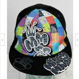 Disney Accessories   Disney Parks Hat Adult Mens Mickey Mouse Graffiti   Color: Black/White   Size: Os