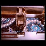 Michael Kors Accessories | Gold Swarovski Crystal Bracket Watch | Color: Gold | Size: Os