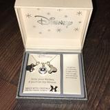 Disney Jewelry | Disney Mickey & Minnie Charm Necklace | Color: Silver | Size: Os