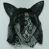 Urban Outfitters Accessories   Floral Lace Cat Ears Headband   Color: Black   Size: Os