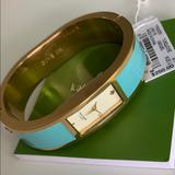 Kate Spade Accessories | Kate Spade Watch Turquoise And Gold | Color: Blue/Gold | Size: 2.5 Inches Across, 6.5 Inches Around Inside Watch