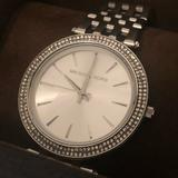 Michael Kors Accessories | Michael Kors Darci Stainless Steel Bracelet Watch | Color: Silver | Size: Os