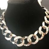 Michael Kors Jewelry | Michael Kors Silvertone Pave Curb Link Necklace | Color: Silver | Size: Os