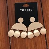 Torrid Jewelry | Gold Plated Dangling Post Earrings. | Color: Gold | Size: Os