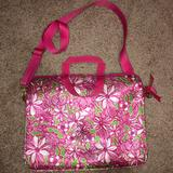Lilly Pulitzer Accessories | Lilly Pulitzer Laptop Case | Color: Green/Pink | Size: 15 Inch