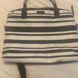 Kate Spade Accessories | Kate Spade Stripe Laptop Bag With Strap | Color: Black/White | Size: Os