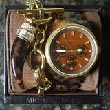 Michael Kors Accessories | Michael Kors Tortoise Gold Watch & Matching Bracel | Color: Brown/Gold | Size: Standard W Extra Links