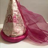 Disney Accessories | Disney Princess Hat With Veil | Color: Pink | Size: Osg