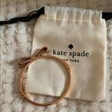 Kate Spade Jewelry   Kate Spade Bow Bangle Bracelet In Rose Gold   Color: Gold/Pink   Size: Os
