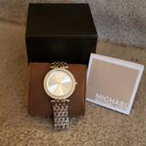 Michael Kors Accessories   Michael Kors Diamond Bezel Watch   Color: Gold/Silver   Size: Os