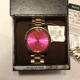 Michael Kors Accessories   Final Price - Mk Womens Mk5801 Pink Dial Watch   Color: Gold/Pink   Size: Os