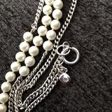 Ralph Lauren Jewelry   Ralph Lauren Pearl And Chain Necklace!!!   Color: Silver   Size: Os