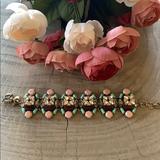 J. Crew Jewelry | J Crew Fashion Bracelet W Beautiful Beads | Color: Pink | Size: 7