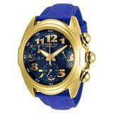 Invicta Men's Lupah Stainless Steel Quartz Watch with Polyurethane Strap, Blue, 26 (Model: 31407)