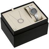 Bulova Box Set Quartz Ladies Watch, Stainless Steel Crystal , Silver-Tone (Model: 96X152)