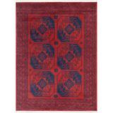 "Well Woven Bokhara Donte Vintage Antique Tribal Geometric Pattern Crimson 5'3"" x 7'3"" Rug"