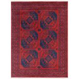 "Well Woven Bokhara Donte Vintage Antique Tribal Geometric Pattern Crimson 7'10"" x 9'10"" Rug"