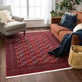 """Well Woven Bokhara Brio Vintage Antique Tribal Floral Pattern Crimson 5'3"""" x 7'3"""" Area Rug"""