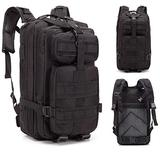 IHADA The Rucksack March Outdoor Tactical Backpack Shoulders Bag Black Military Tactical Backpacks Tactical Rucksack Survival Bag Assault Pack
