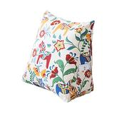 Shan-S Cotton Canvas Pillow Cartoon Cushion Gift Wedge Pillow,Cotton Filled Triangular Wedge Pillow Support Reading Backrest Cushion for Bed Sofa Upholstered Headboard,Removable and Washable