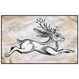 Antler Bedroom Rugs Patio Rug Rug pad Sketch Mythology Jackalope vaccuums for Carpet and Floors Kids 2 x 3 Ft