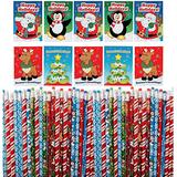 Christmas Holiday Activity Books With Wooden Pencils (36 of Each) Christmas Party Favors, Stocking Stuffers, Xmas Teachers Gifts for Students, Classroom Prize for Kids by by 4E's Novelty