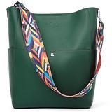 BROMEN Women Handbag Designer Vegan Leather Hobo Handbags Shoulder Bucket Crossbody Purse Green