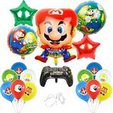 Super Mario Bros Balloons Super Mary Balloons Super Mario Birthday Party Supplies Mario Party Decorations for Kids, Set of 19 Pcs.
