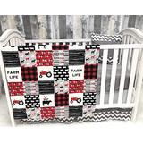 Baby Nursery Bedding , Baby , Farm Life , Cow , Chickens , Gender Neutral , Cowboy, Farmer , Tractor, Baby Bedding , Crib Bedding , Babylooms