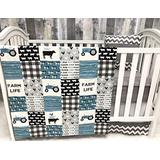 Baby Nursery Bedding , Baby , Farm Life , Cow , Chickens , Cowboy, Farmer , Tractor, Baby Bedding , Crib Bedding , Babylooms
