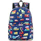 Preschool Backpack Kids School Book Bags for Elementary Primary Schooler (Truck Navy)