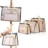 Gcroet 5PCS Dust Bags for Handbags,Handbag Organizer,Clear Handbag Storage Bags,Handbag Dust Cover Bags Dustproof Bags Handbag Purse Storage Bag Transparent Anti-Dust Protector for Handbag