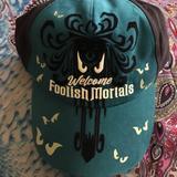 Disney Accessories   Disneys Haunted Mansion Wallpaper Hat   Color: Black   Size: Os