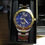 Disney Accessories | Disney Men'S Mickey Mouse Analog-Quartz Watch | Color: Blue/Gold | Size: Os