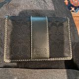 Coach Bags | Authentic Coach Black Card Case W Id Wallet | Color: Black | Size: 4x3