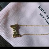 Kate Spade Jewelry | Kate Spade-Nwt Yellow Gold Bow Necklace | Color: Gold | Size: 17 Inches-3 In Extender