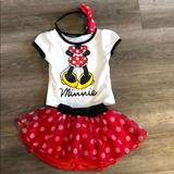 Disney Matching Sets   Disney Junior Minnie Mouse Toddler Outfit   Color: Red/White   Size: 2tg