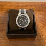 Michael Kors Accessories   Michael Kors Silver & Black Stainless Steel Watch   Color: Black/Silver   Size: Os