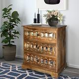 Bungalow Rose 3 Drawer Accent Chest Wood in Brown, Size 30.0 H x 33.0 W x 15.0 D in | Wayfair B30AD1363D9C4BCBBDE17043B63BF750