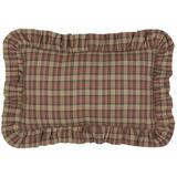 August Grove® Cotton Plaid Lumbar Pillow Polyester/Polyfill/Cotton in Blue/Brown/Red, Size 14.0 H x 22.0 W x 5.0 D in | Wayfair