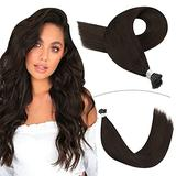 YoungSee Itip Human Hair Extensions 20inch Pre Bonded Human Hair Extensions Stick Tip Hair Extensions Darkest Brown Human Hair I Tip Extensions Fusion Hair Extensions 50strands 50gram