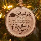 The Holiday Aisle® Never Be Too Grown Up Christmas Tree w/ Santa & Reindeer Hanging Figurine Ornament Wood in Brown, Size 3.5 H x 3.75 W x 0.25 D in